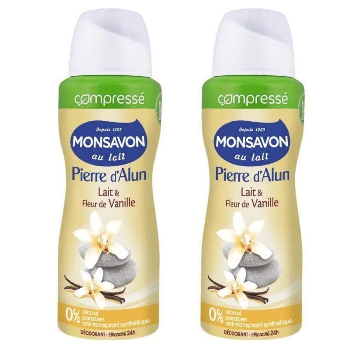 Monsavon - Déodorant spray lait & vanille